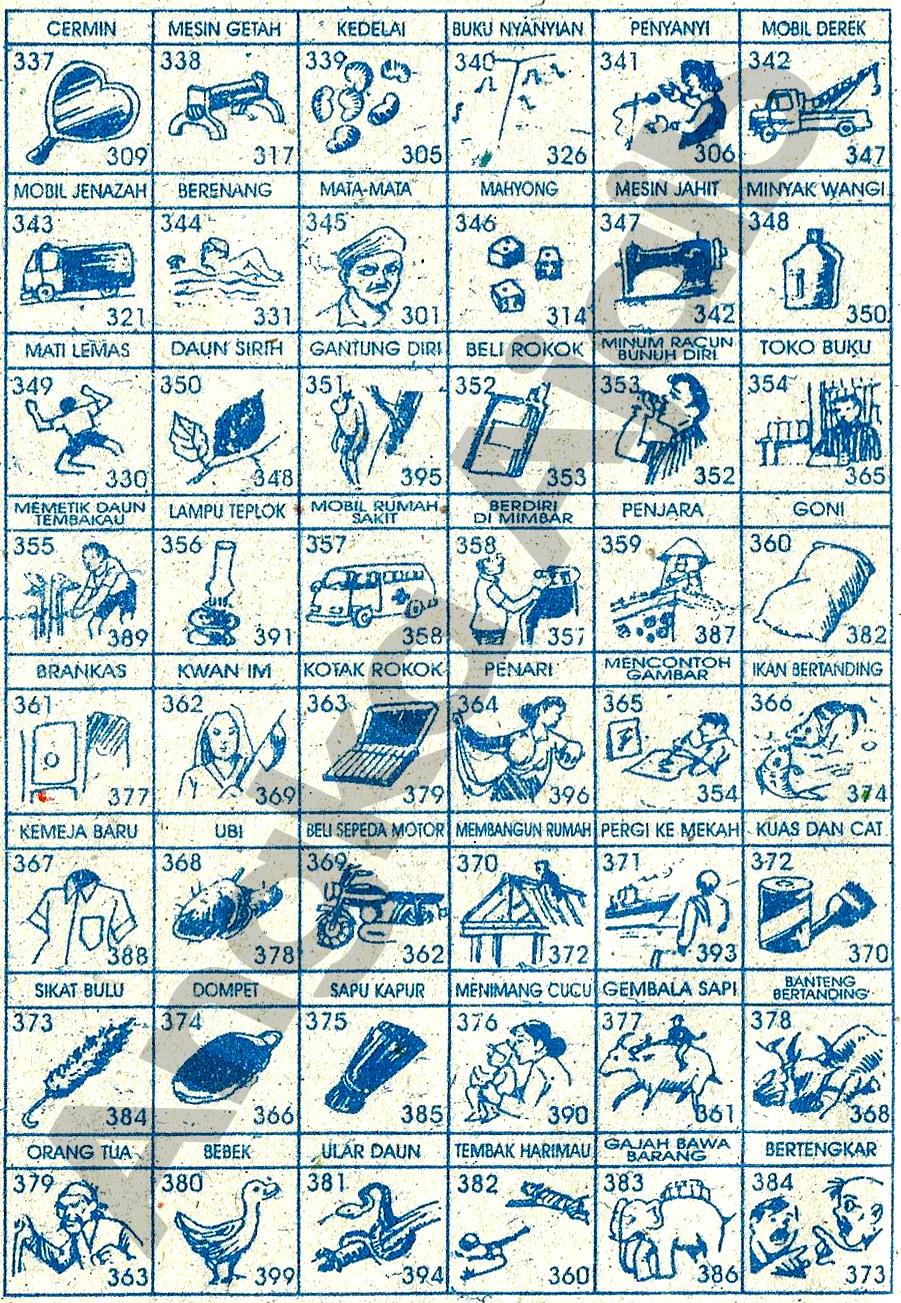 Buku mimpi Erek Erek 3D 337-384