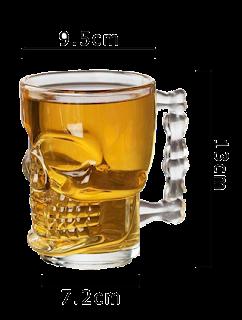 Gift for Guys - Skull Glass Mug