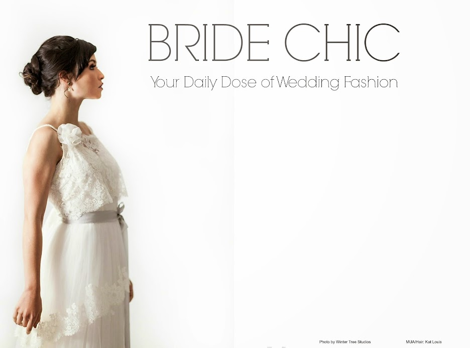 "BRIDE CHIC Magazine published article with wedding photographs from ""Photos by Yvonne"""