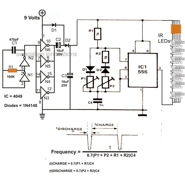 infrared ir led flood light circuit diagram