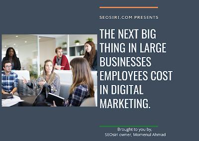 employees cost in digital marketing