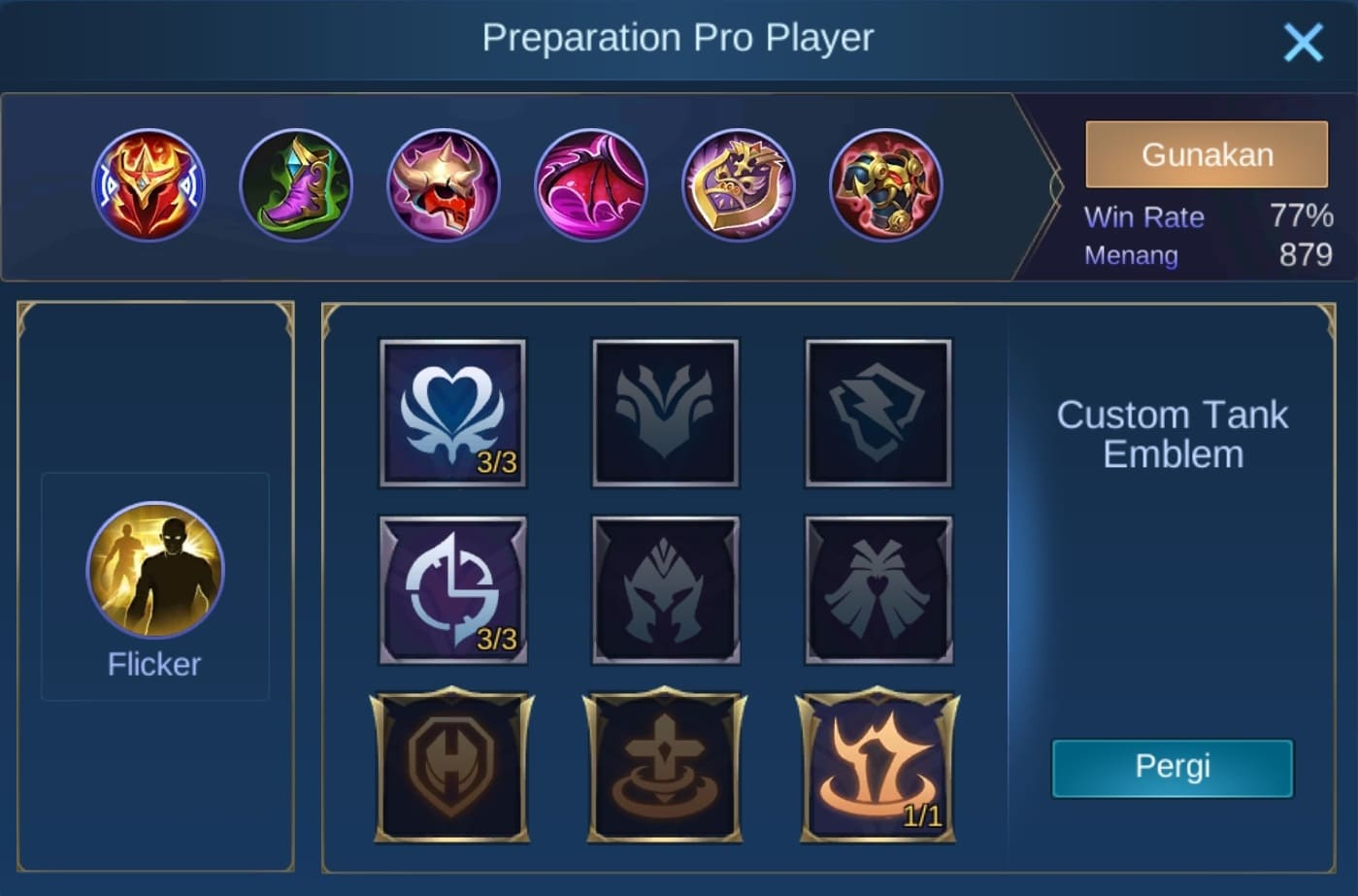 build item khufra mobile legends (ML)