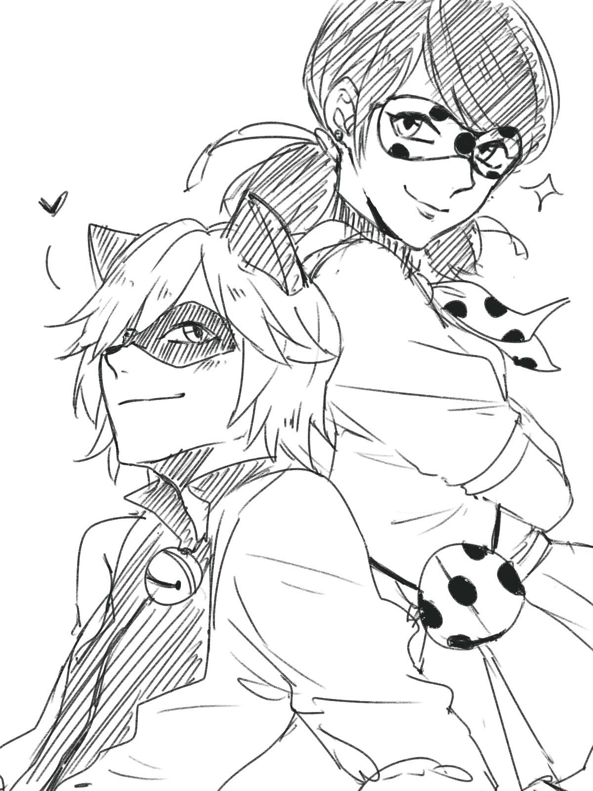 Cat Noir Miraculous Ladybug Coloring Page Atividades E Desenhos De