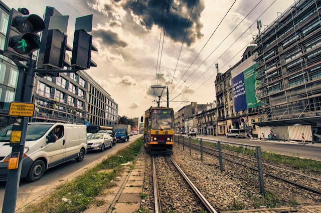 Tram a Lodz