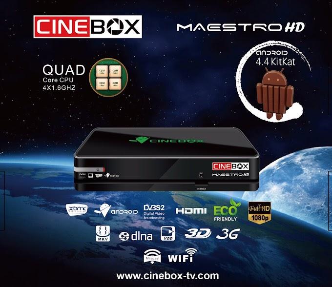 CINEBOX MAESTRO HD NOVA ATUALIZAÇÃO V4p57p0 - 21/06/2019