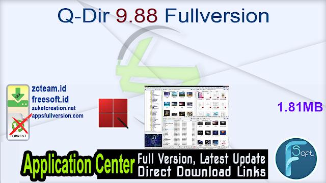 Q-Dir 9.88 Fullversion