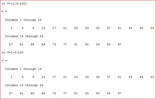 Array berisi angka a sampai c dengan jeda b