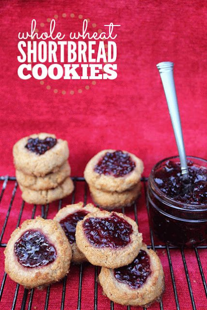 Whole Wheat Shortbread Cookies for Christmas