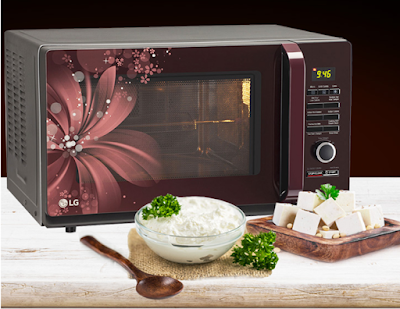 LG 32 L Convection Microwave Oven (MC3286BRUM, Black) with preset 301 auto cook menu including 211 Indian menus