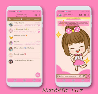 Anime Girl Theme For YOWhatsApp & Fouad WhatsApp By Natalia luz