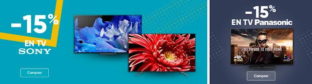 Mejores ofertas promoción -15% en TVs Sony y Panasonic Fnac
