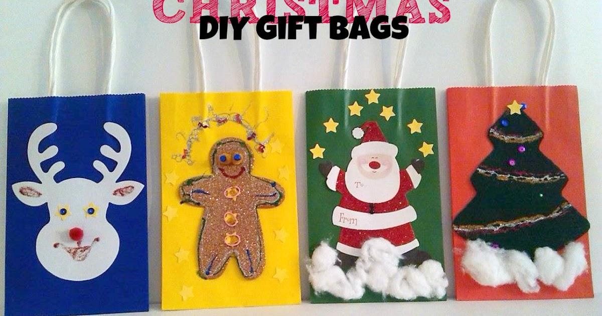 Diy Christmas Gift Bag Ideas Adventures Of Kids Creative Chaos