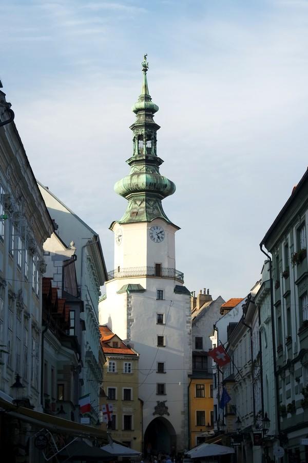 bratislava vieille ville centre porte michel