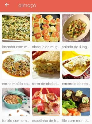 aplicativo Receitas da Dieta Low Carb
