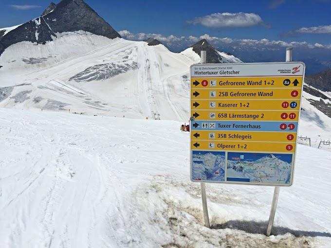 Skiën in de zomer: het kan op de Hintertuxer Gletscher in Oostenrijk