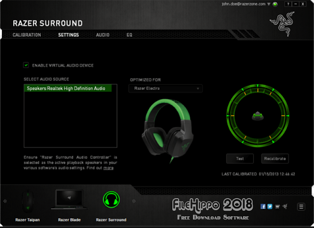 Download Razer Surround Personalized 7.1 Gaming Audio Software