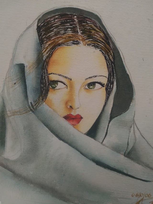 A woman water colour
