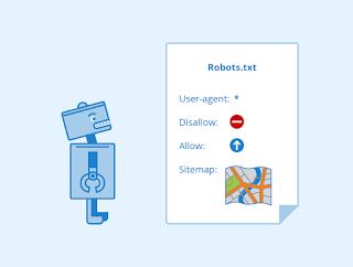 روبوت ينظر إلى ورقة مكتوب عليها أوامر معيّنة وخريطة الموقع
