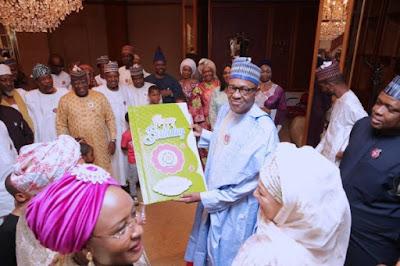 buhari6 - 9JA NEWS: #PMBAt75: Governors, Saraki, Dogara, Tinubu, Well-wishers surprise Buhari on his 75th Birthday