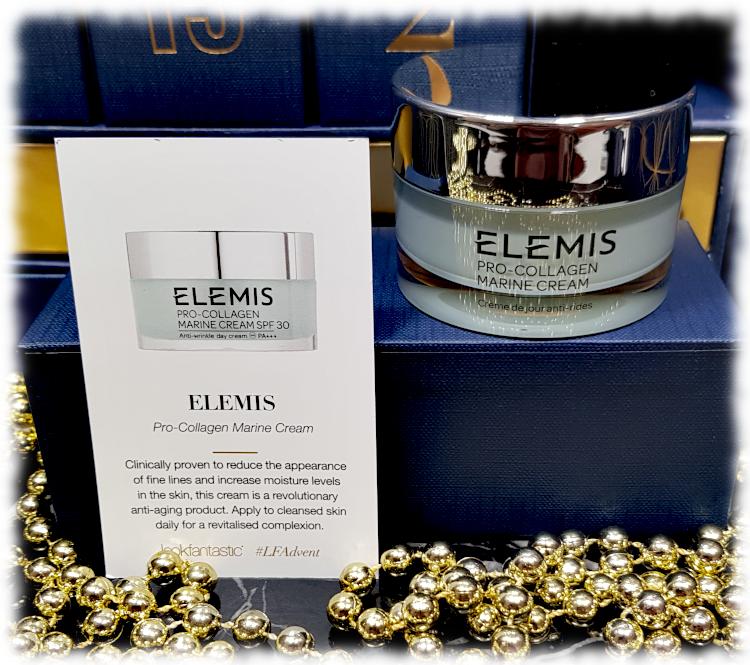 Elemis Pro-Collagen Marine Day Cream jar & description card