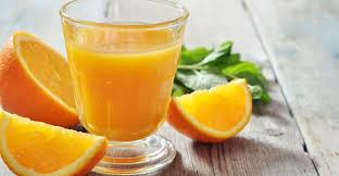 orange juice for dark circles.