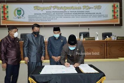 Pemkab dan DPRD Inhil Tanda Tangani Persetujuan KUPA-PPAS APBD-P 2020 Sebesar Rp2,2 Triliun