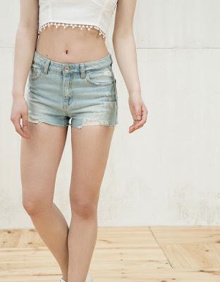 Short en jean Bershka