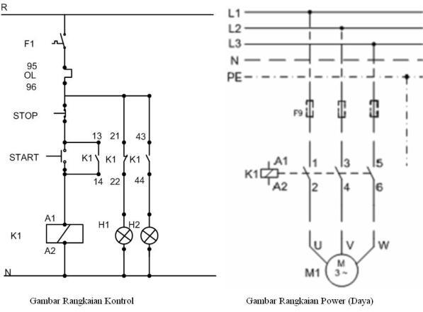 Sistem Pengendali Motor Listrik 3 Phasa Rangkaian Start Stop