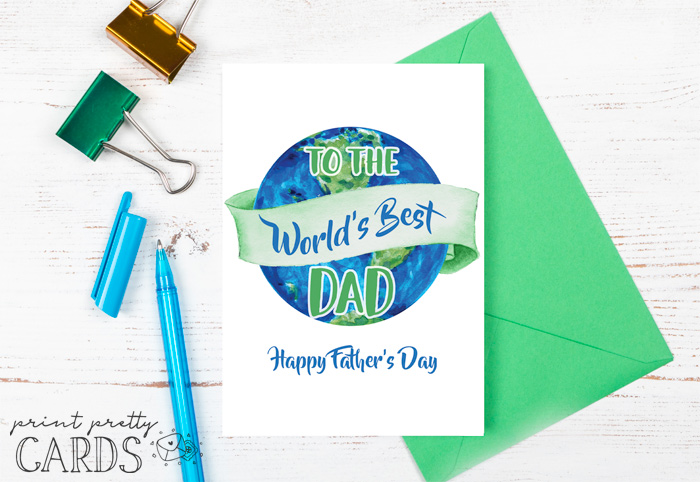 Printable Fathers Day Cards for Dad