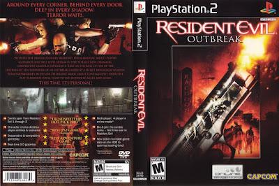 Jogo Resident Evil Outbreak PS2 DVD Capa