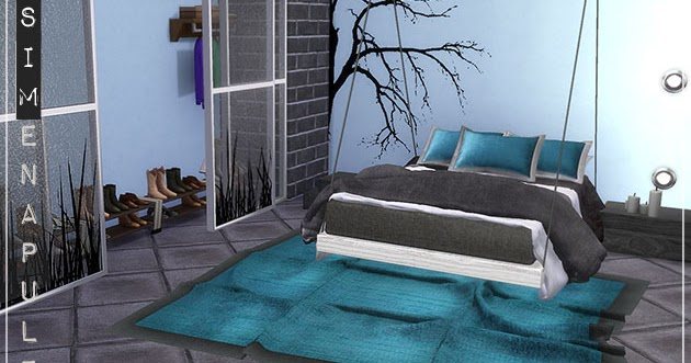 My sims 4 blog: merak bedroom set by ronja