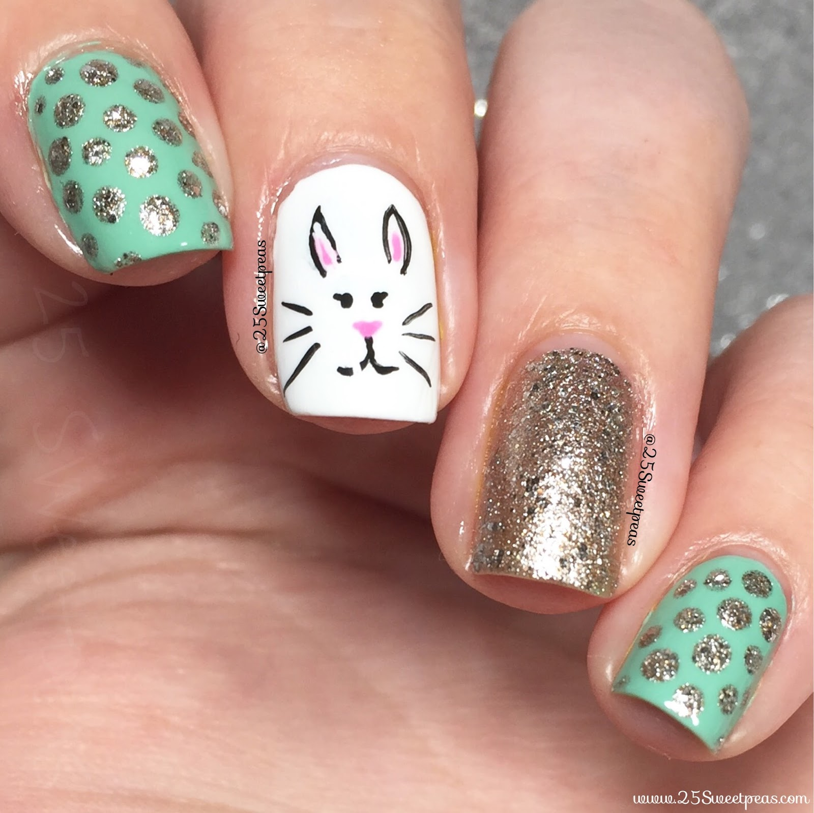Serendipity Nail Polish Bunny Nails