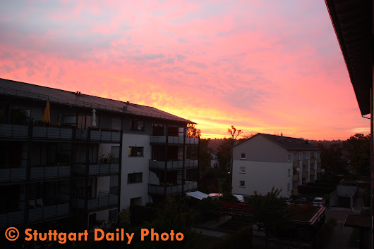 Stuttgart Daily Photo: A View From My Kitchen Window At 07:19 A.M.