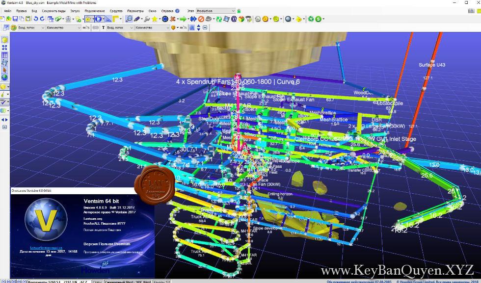Chasm.Consulting.VentSim.Premium.Design.5.0 Full Key, Phần mềm khảo sát và thống kê nhiệt và khí động học.