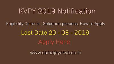 Kishore Vaigyanik Protsahan Yojana - exam notification 2019,eligibility criteria