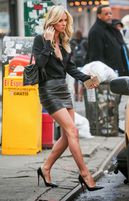 Nicki Hilton Black Silk Blouse Satin Lite House