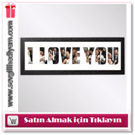 I Love You Fotoblok Çerçeve