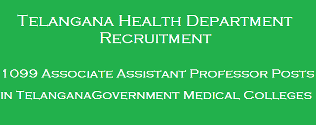 latest jobs, TS State, TS Jobs, TSPSC, TS Health Department, Assistant Professor, Government Medical College