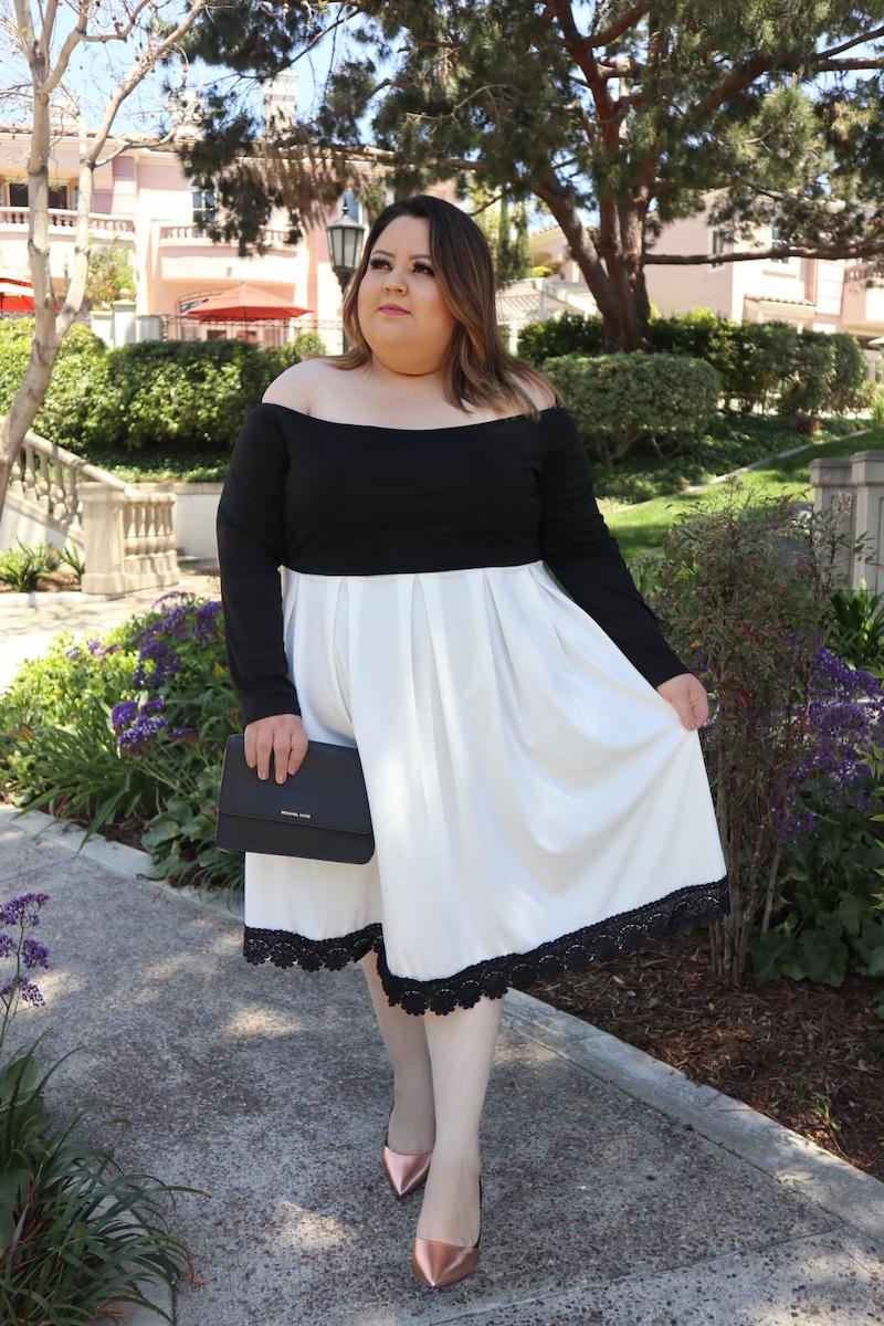 Vestido en Blanco y Negro