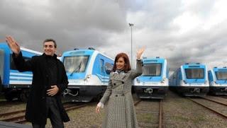 Randazzo y Cristina Kirchner, inaugurando trenes en 2015, cuando aún eran aliados.