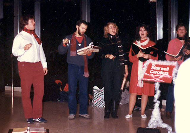 Caroling in Ottawa's Rideau Center, 1986
