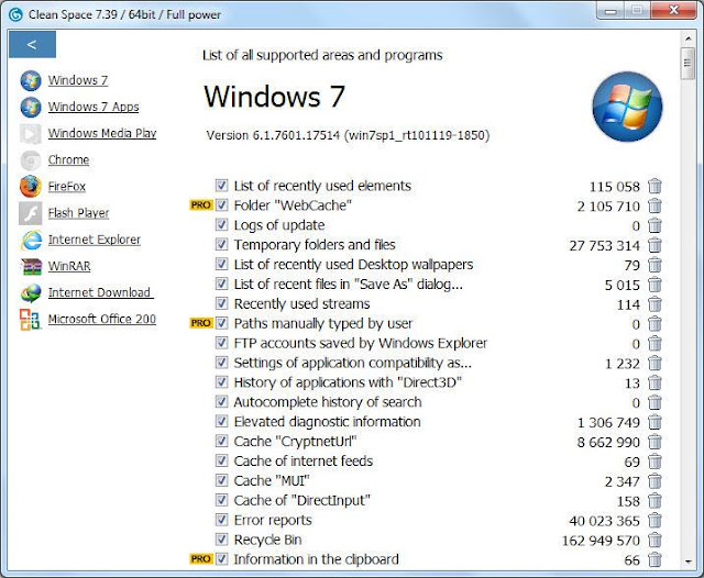 Screenshot Cyrobo Clean Space Pro 7.39 Full Version