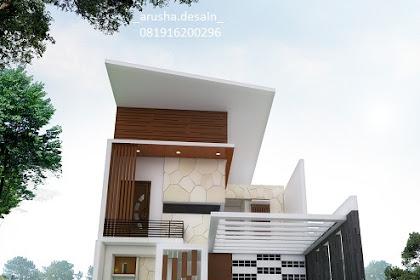 Jasa design 3d tampak muka rumah tinggal minimalis