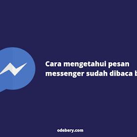 Cara Mengetahui Pesan Messenger Sudah Dibaca atau Belum