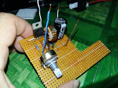 HomeMade DIY HowTo Make: Adjustable DC to DC step up voltage booster