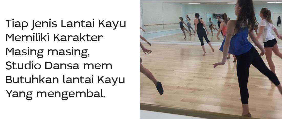 Lantai Kayu untuk studio dansa