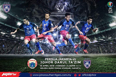 Live Streaming Persija Jakarta vs JDT FC Piala AFC 10 April 2018
