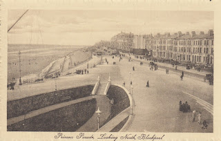 Princess Parade, Looking North, Blackpool. Tuck's Post Card. Unposted. Undated