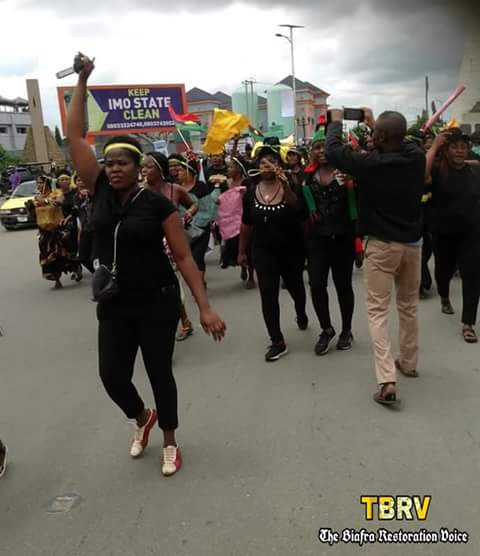 TBRV Breaking News | Biafran Women hits the streets of Owerri