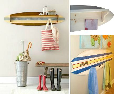 Surfboard Coat and Towel Rack